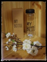 Стекло Черная Бутылка Май Ботл My Bottle  картонная коробка