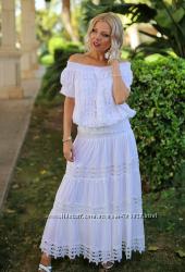Сексуальная изящная кружевная белая юбка Fresh-cotton 012 F-1C