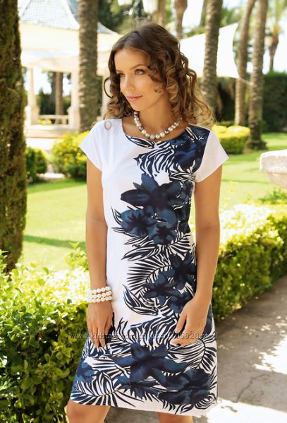 8158a536980 Бело-синее модное летнее платье Индиано код 439 S M L