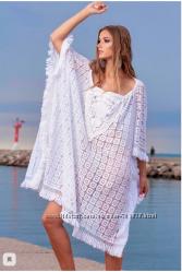 6e3fb084142f714 Женская пляжная белая туника платье с рукавом кружевом Испания 48 50 ...