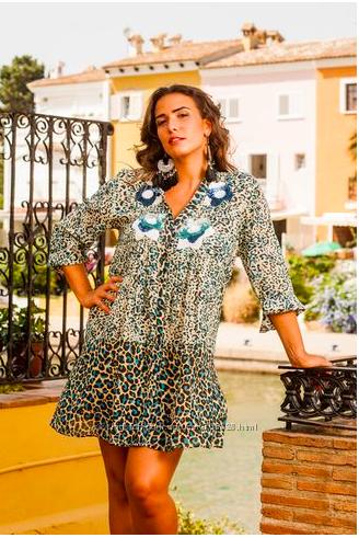 Стиль Бохо летняя туника, платье-рубашка на пуговицах