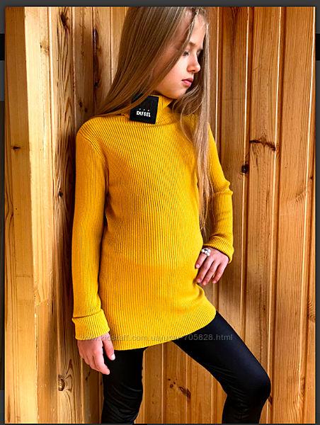 Базовый теплый свитерок, гольф в рубчик с нашивками Trendyol