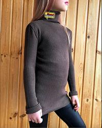 Забавный модный теплый свитерок, гольф в рубчик с нашивками trendyol