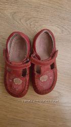 Stride rite, открытые туфельки на  лето, мокасины, кожа. 22 разм. 14см стел
