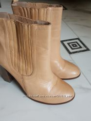 Кожаные полусапожки, ботинки Zara 39 размер, Zara, состояние отличное