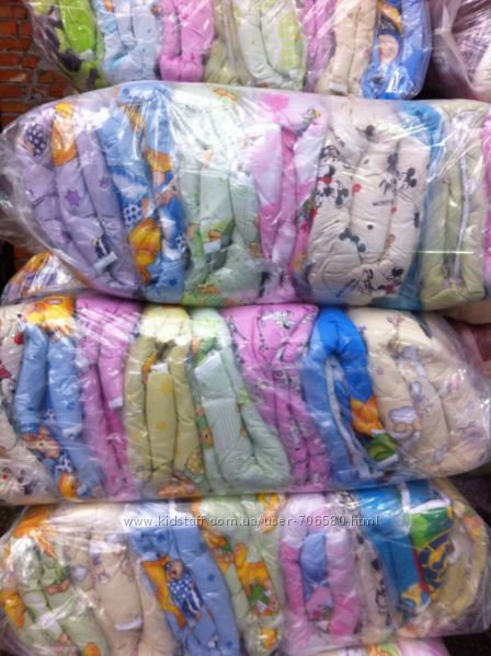 Одеяло для садика оптом, 110х140 и подушка в подарок