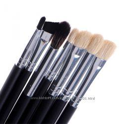 Набор кистей для макияжа 7 шт. натуральный ворс - козочка, пони