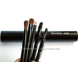 Набор кистей для макияжа 5 шт  в тубусе натуральный ворс