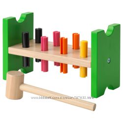 Блок с колышками и молотком MULA IKEA