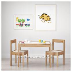 Детский стол и 2 стула L&AumlTT IKEA