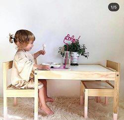 Детский стол и 2 стула LATT IKEA