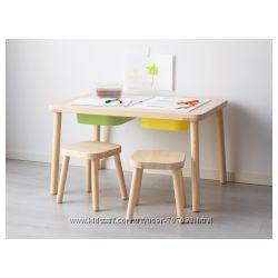 Детский стол деревянный FLISAT IKEA