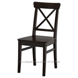Стул белый, коричневый, черный IKEA
