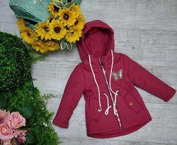 Куртка деми для девочек 4 цвета 68-92р. 0903