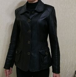 Кожаный пиджак размер s