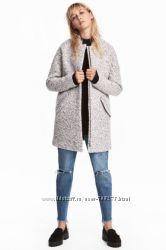 Пальто из буклированной пряжи H&M