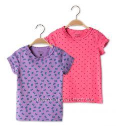 Набор из двух красивых футболочек  C&A на девочку, рост 116 см