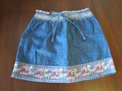 Джинсовая юбочка GLORIA JEANS с красивой вышивкой  на рост 110 см