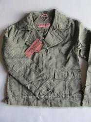 Лёгкая джинсовая куртка оливкового цвета  дев. р. 146-164
