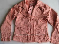 Лёгкая джинсовая куртка цвета пудра дев. р. 146-164