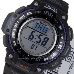 Оригинал новые мужские часы Casio SGW-1000-1A  Компас  Барометр