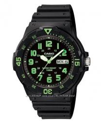 Оригинал, новые мужские часы Casio MRW200H-3BV водонипроницаемые