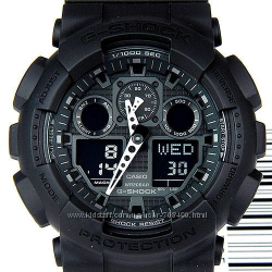 Мужские часы Casio G-Shock GA100-1A1 водонипроницаемые