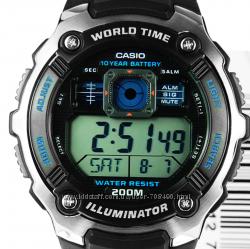 Оригинал, новые мужские часы Casio AE2000W-1AV водонепроницаемые