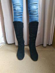 Сапоги сапожки Ботинки Зима Натуральный Замш