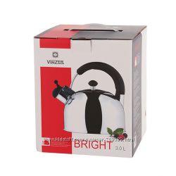Чайник с откидным свистком Vinzer Bright 89001