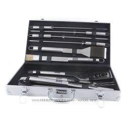 Набор инструментов для барбекю Fissman 10 предметов в чемодане BQ-1014. 10