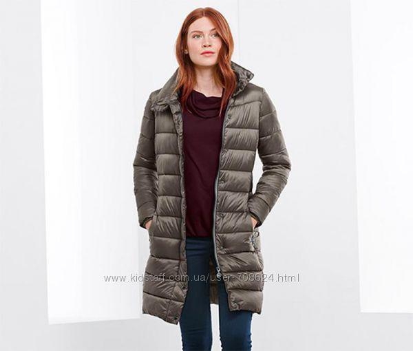 Удлиненное стеганое пальто куртка S 36 евро Тсм Tchibo.
