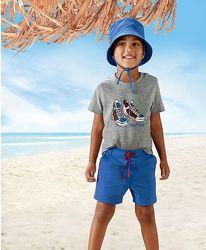 Комплект 3 вещи, футболка, шорты, панама 110-116 Lupilu.