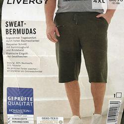 Отличные трикотажные шорты 4XL 68-70 евро Livergy.