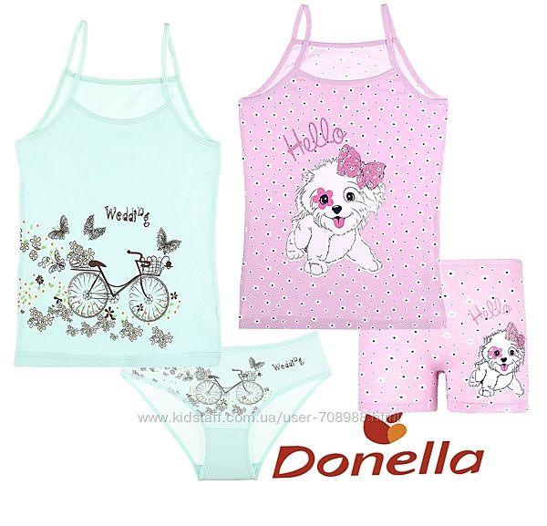 Комплект Donella белая майка трусы 8-9 лет рост 134-140 см Турция Донелла