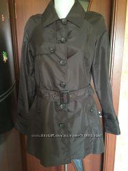 Куртка плащ пиджак оверсайз mng mango коричневый шоколадный с карманами