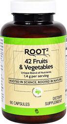 Vitacost 42 вида фруктов и овощей 1400 мг  в 2-х капс 90 капс
