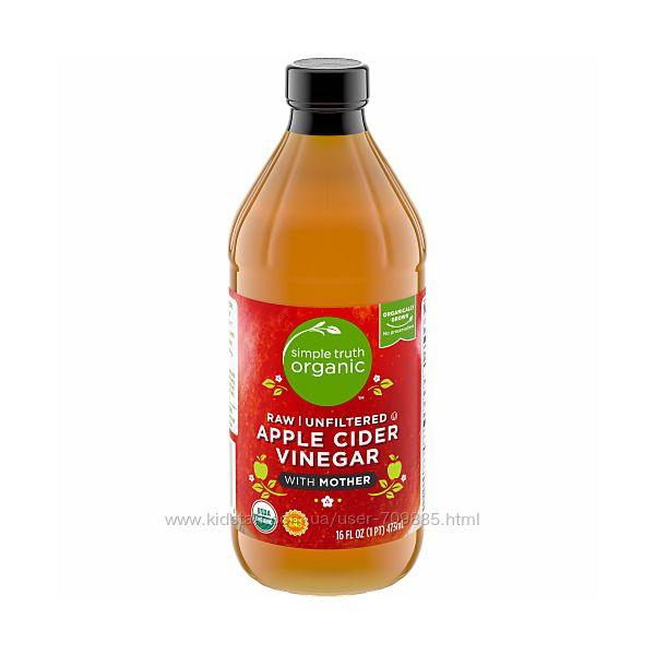 Simple Truth 5 Яблочный уксус натуральный органический, 473 мл