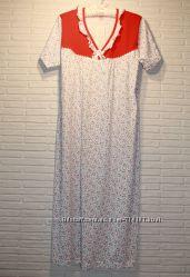 Ночная рубашка ночнушка плотный 100хб 50-52 54-56 58-60 разные расцветки