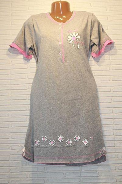 Ночная рубашка, сорочка, нічнушка ночнушка нічна плотный подарок 100х/б