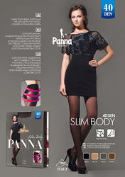 Колготки колготы бикини с моделирующими трусиками Рanna slim body 40 den де