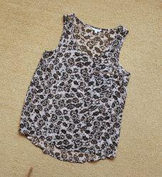 Майка new look блуза блузка топ шифоновая легкая воздушная цветочный принт