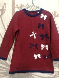 Детское теплое платье Dr. Kid для девочки 5-6 лет