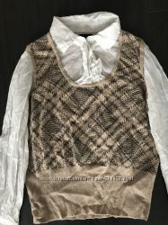 Блуза с жилеткой обманка