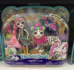 Новинка Enchantimals Белый тигр Тэдли и Китти Tadley Tiger & Kitty