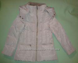 Зимняя курточка пуховик ZARA на 4-5 лет воротник стойка