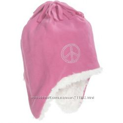 Шапка розовая флис подкладка для девочки на 4-7лет США
