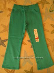 брюки теплые спортивные хлопок с начесом для девочки 4-6лет