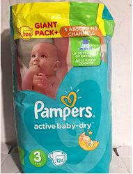 Pampers active baby-dry  3, 124