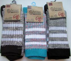 Женские носки Bross с добавлением шерсти р. 37-39.